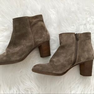 J.Crew Aggie Suede Ankle Boots